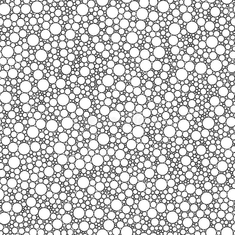 Sömlös modell för färgläggningbok Klotter, zentangle, stam- designbeståndsdel Modell för färgläggningbok royaltyfri illustrationer