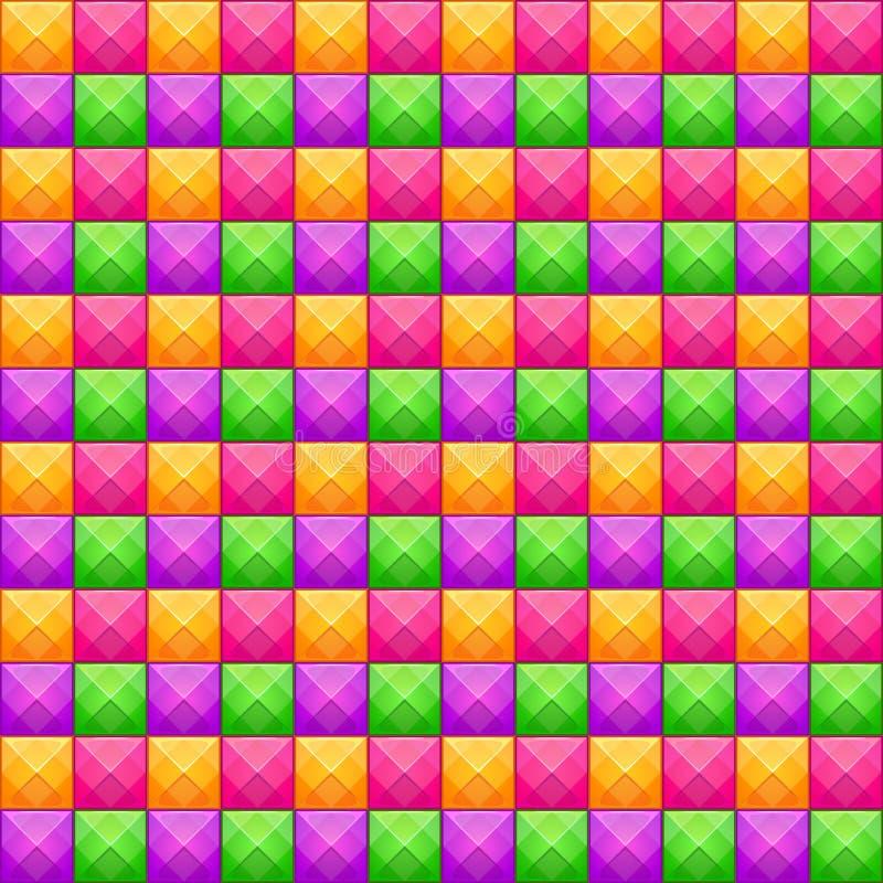 Sömlös modell för färgrik abstrakt mosaik den bästa nedladdningoriginalen skrivar ut klar textur till vektorn royaltyfri illustrationer