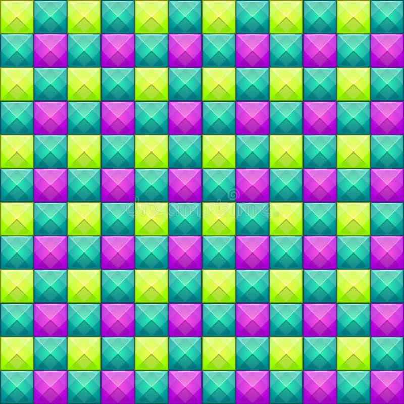 Sömlös modell för färgrik abstrakt mosaik den bästa nedladdningoriginalen skrivar ut klar textur till vektorn stock illustrationer