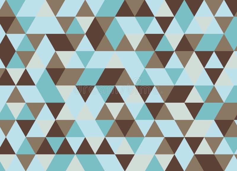 Sömlös modell för färgrik geometrisk triangel Abstrakta vektorlodisar arkivbild