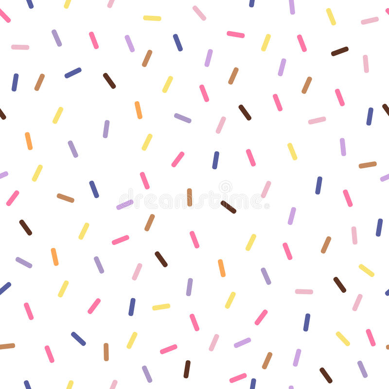 Sömlös modell för färgrik vektor med konfettier stock illustrationer