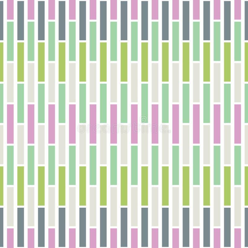 Sömlös modell för färgrik vektor för mosaiktegelplattor Nyckfull sommar Geo abstrakt bakgrundsband royaltyfri illustrationer