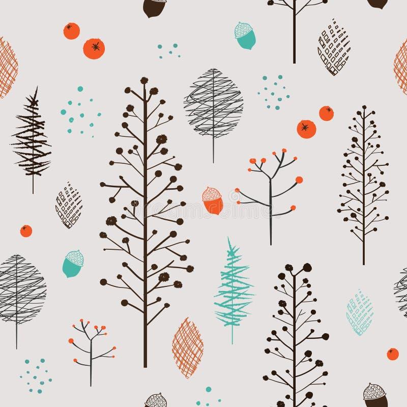 Sömlös modell för förtjusande växt vektor illustrationer