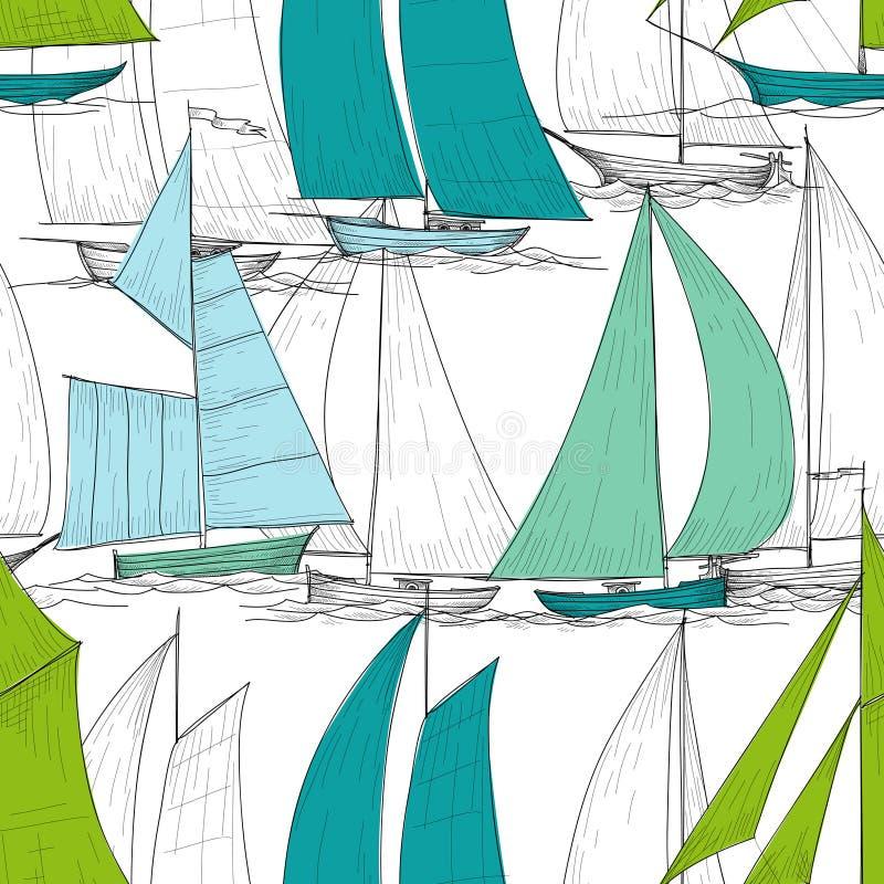 Sömlös modell för fartyg stock illustrationer