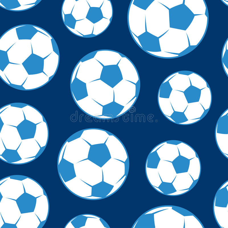 Sömlös modell för fotbollboll stock illustrationer