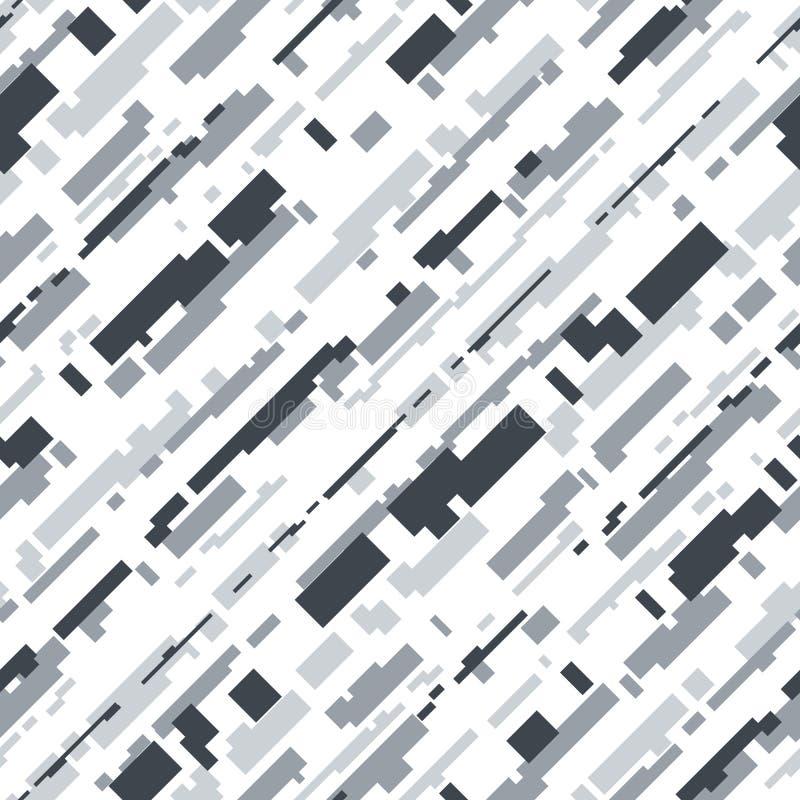 Sömlös modell för futuristisk kamouflagevektor arkivbild
