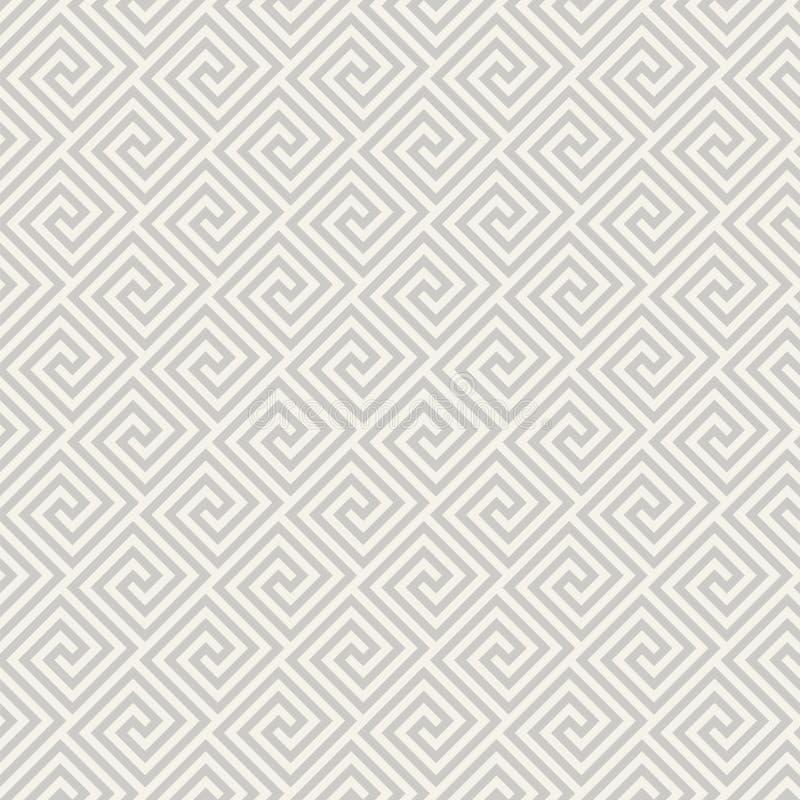 Sömlös modell för gammalgrekiska geometrisk abstrakt bakgrund royaltyfri illustrationer