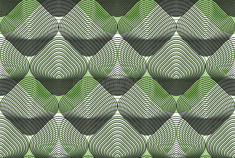 Sömlös modell för geometrisk färgrik strimmig samkopiering, ljus vecto royaltyfri illustrationer