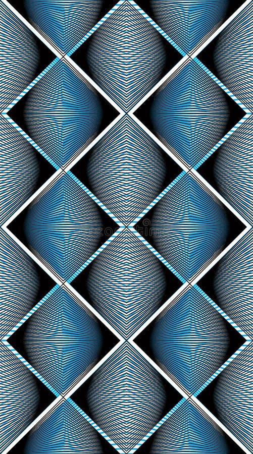 Sömlös modell för geometrisk färgrik strimmig samkopiering, ljus vecto vektor illustrationer