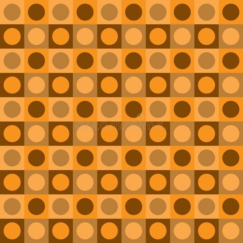 Sömlös modell för geometrisk modern vektor Modern gul bakgrundstapet med guld- dekorativa abstrakta diagram royaltyfri illustrationer