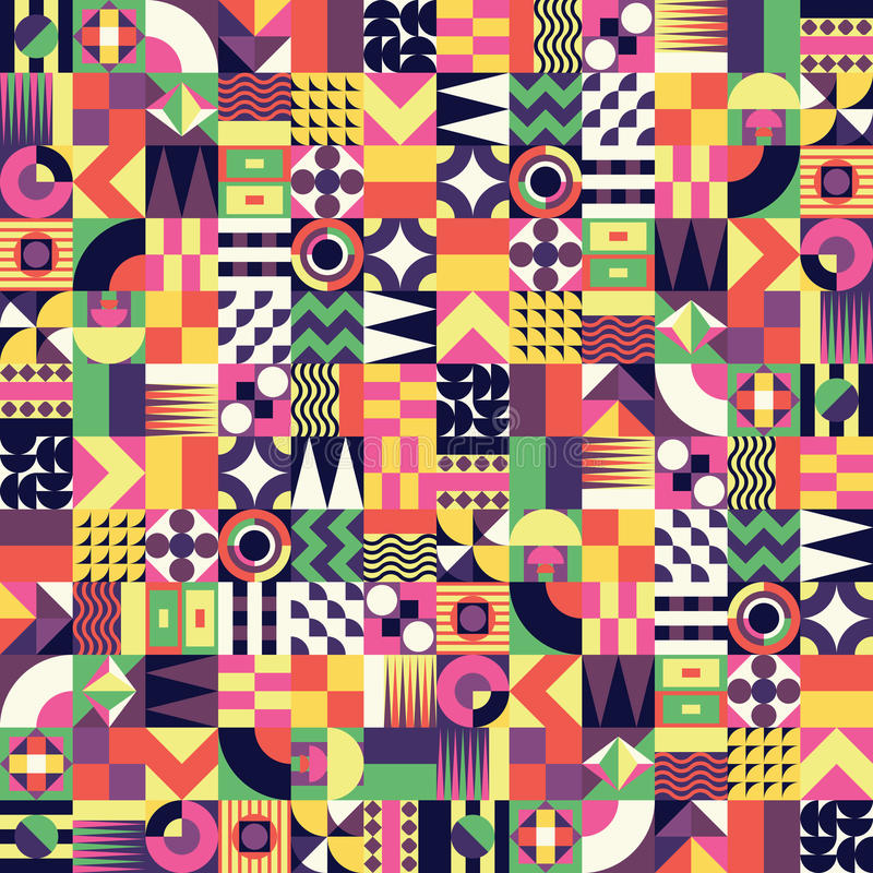 Sömlös modell för geometrisk mosaik royaltyfri illustrationer