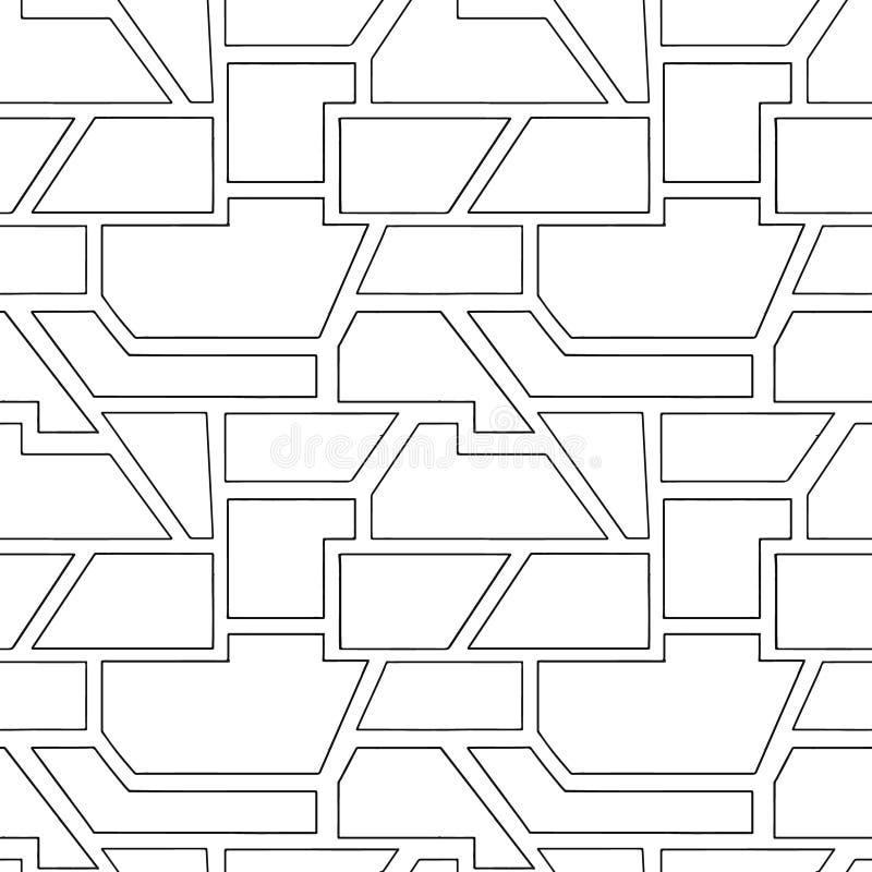 Sömlös modell för geometrisk vektor med olika geometriska former Fyrkant triangel, rektangel Minsta design för modern techno _ vektor illustrationer