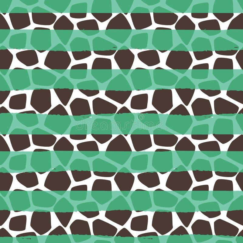 Sömlös modell för giraffhudvektor royaltyfri illustrationer
