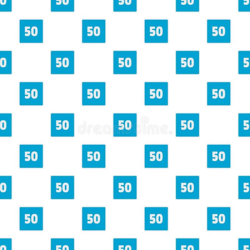 Sömlös modell för gräns för minimumhastighet femtio vektor illustrationer