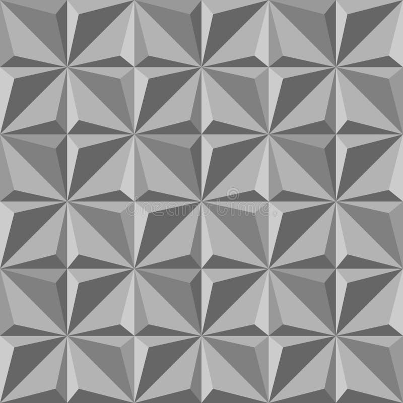 sömlös modell för grå triangel Grafisk design för mode också vektor för coreldrawillustration Optisk modern stilfull abstrakt tex stock illustrationer