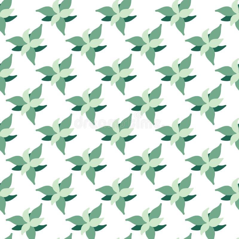 Sömlös modell för gröna växter stock illustrationer