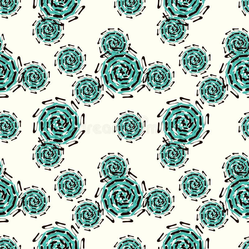 Sömlös modell för grönt kuggeabstrakt begrepp på en ljus bakgrund stock illustrationer