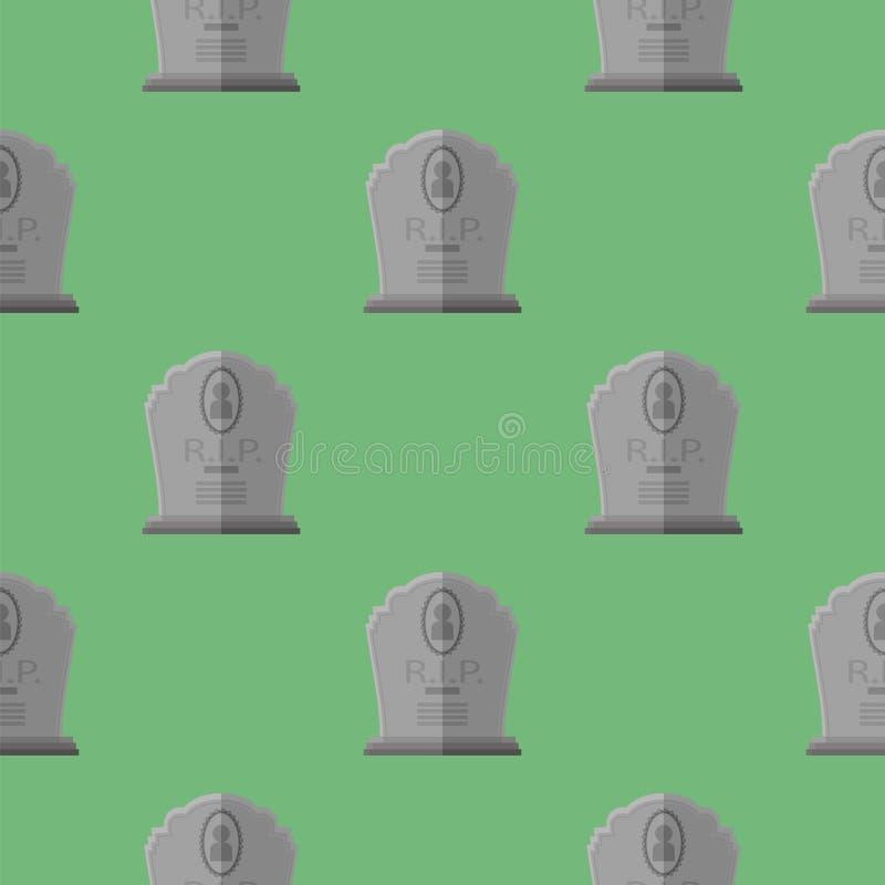 Sömlös modell för gravsten Grey Stone Monuments vektor illustrationer