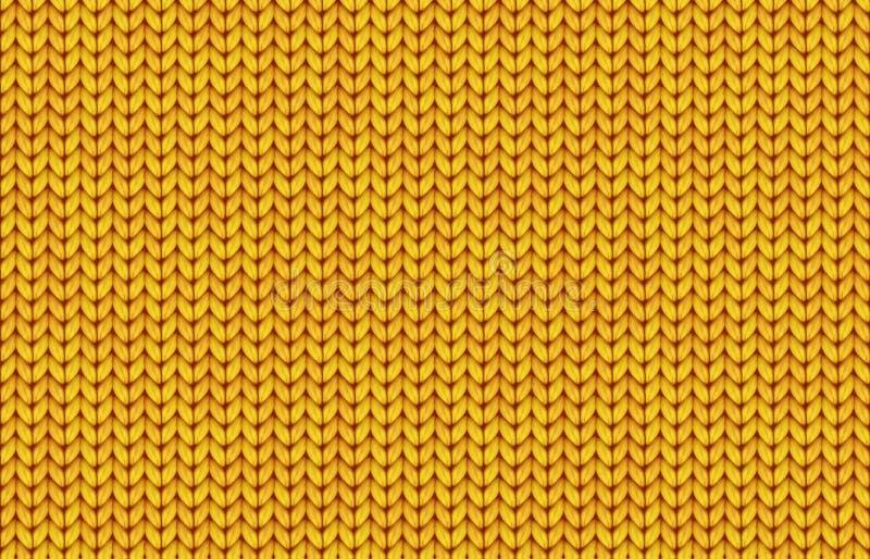 Sömlös modell för gul realistisk enkel rät maskatexturvektor royaltyfri illustrationer
