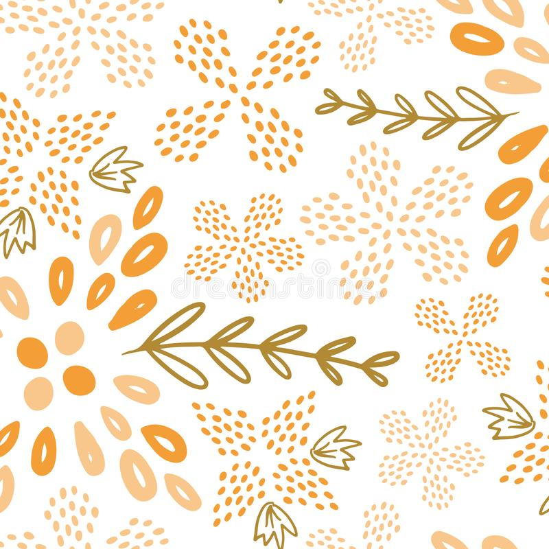 S?ml?s modell f?r gul sommarblomma stock illustrationer