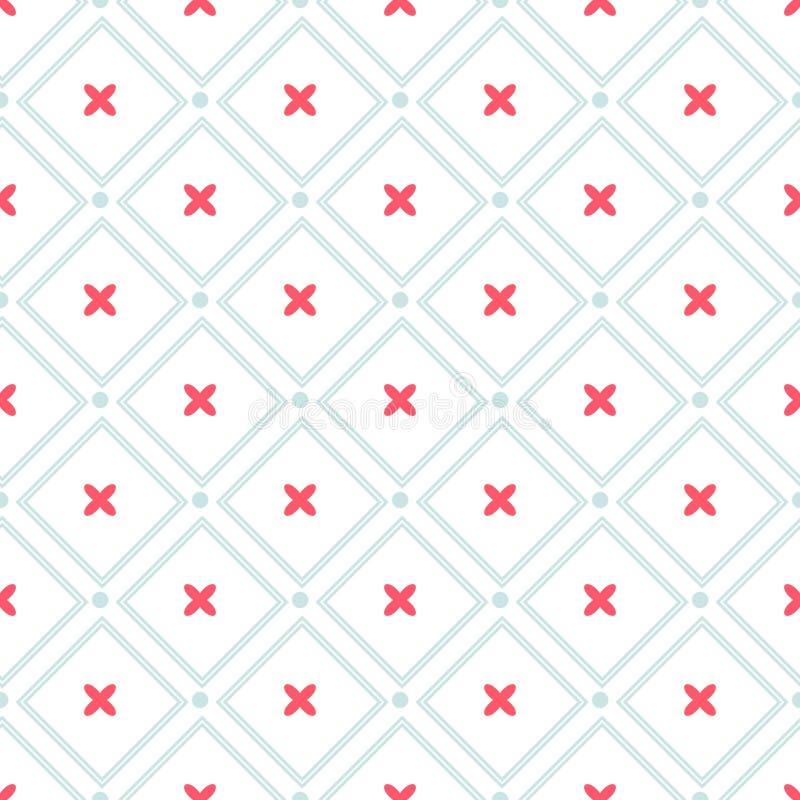 Sömlös modell för gullig retro abstrakt hjärta Kan användas för tapeten, räkningspåfyllningar, webbsidabakgrund, yttersidatexture vektor illustrationer