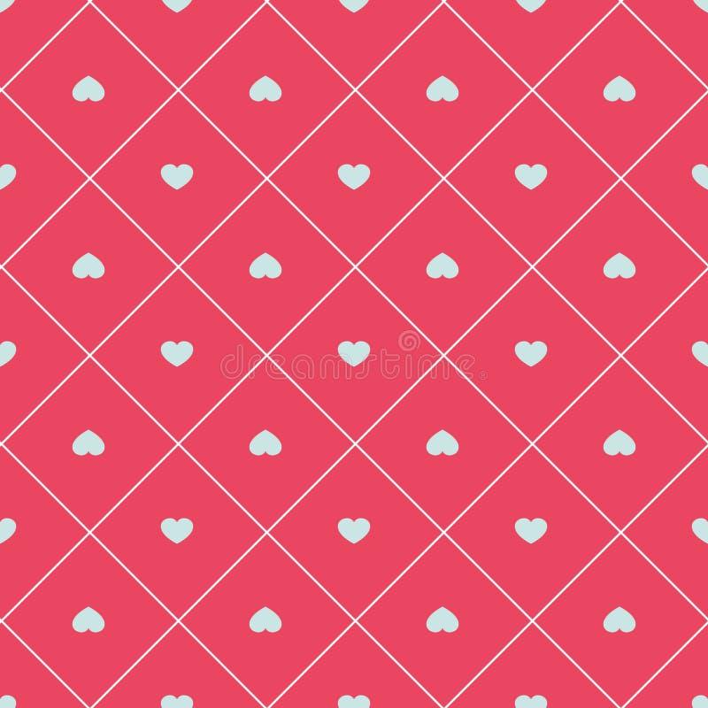Sömlös modell för gullig retro abstrakt hjärta Kan användas för tapeten, räkningspåfyllningar, webbsidabakgrund, yttersidatexture royaltyfri illustrationer