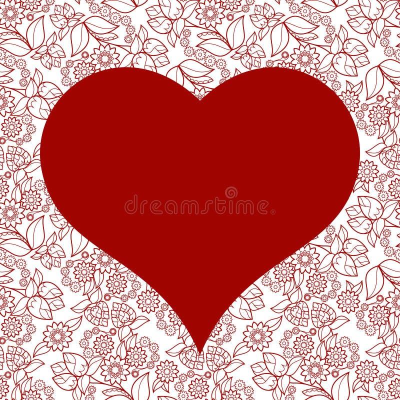 Sömlös modell för hjärta för valentindagkort royaltyfria bilder