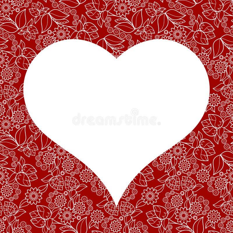Sömlös modell för hjärta för valentindagkort royaltyfria foton