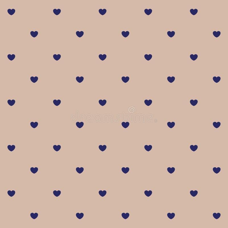 Sömlös modell för hjärtaprick royaltyfri illustrationer