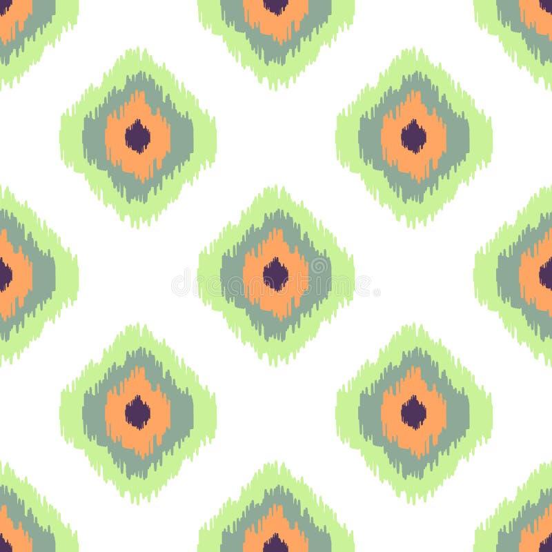 Sömlös modell för Ikat vektor abstrakt geometriskt vektor illustrationer