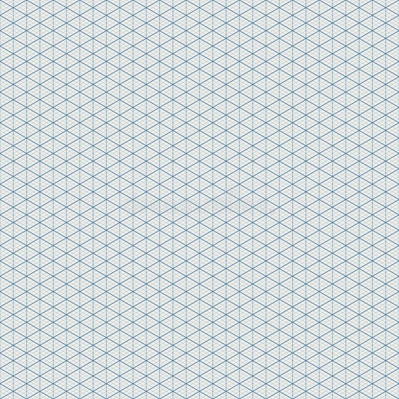 Sömlös modell för isometriskt raster vektor illustrationer