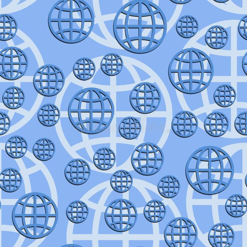 Sömlös modell för jordjordklot abstrakt vektorillustration royaltyfri illustrationer