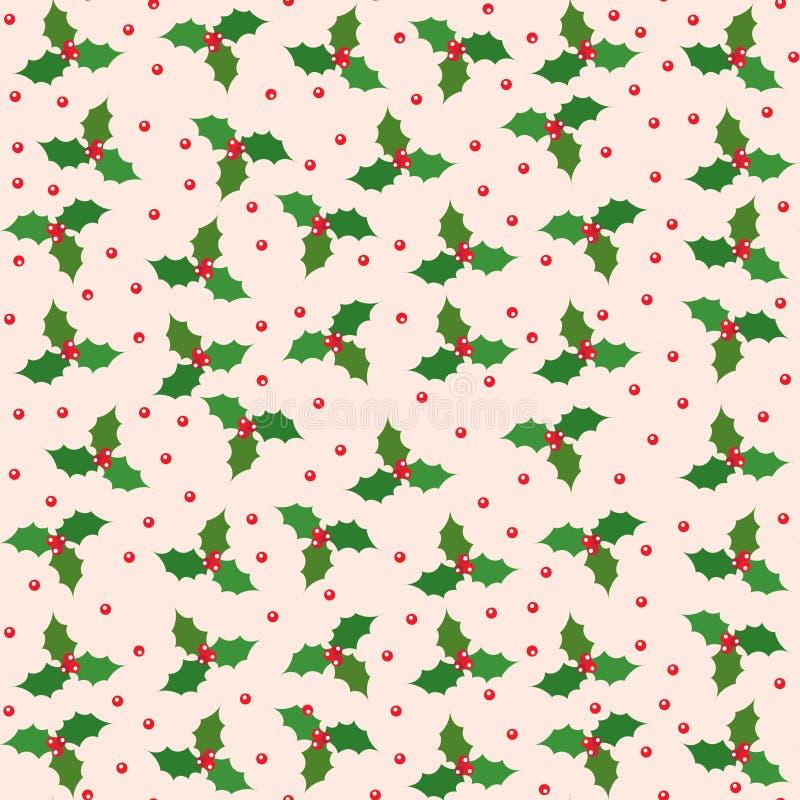 Sömlös modell för julvektor Ljus vinterprydnad 01 stock illustrationer