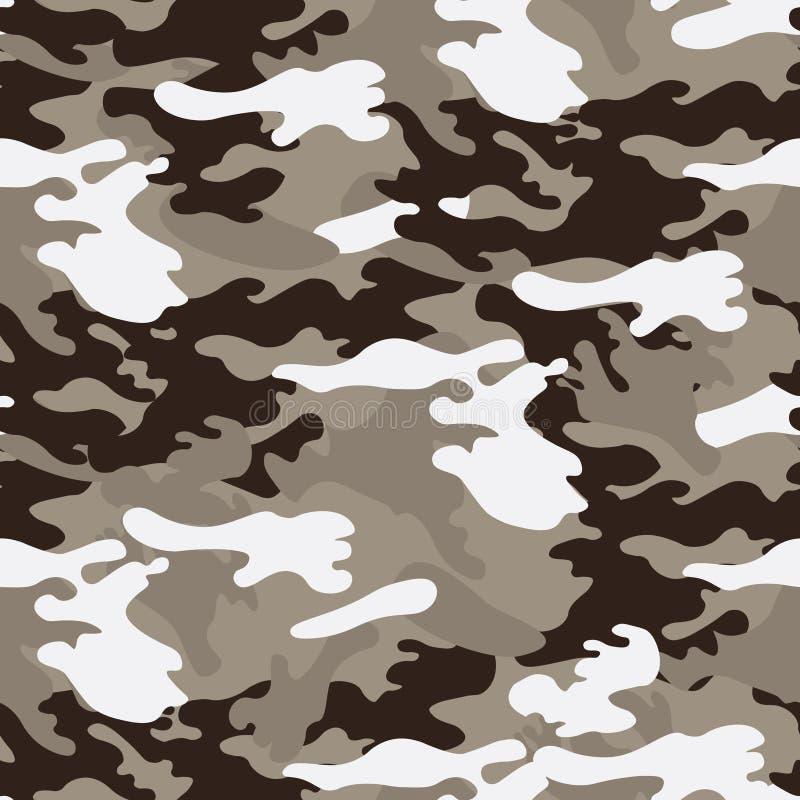 Sömlös modell för kamouflage, klassisk stil stock illustrationer