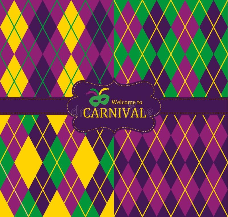 Sömlös modell för karneval royaltyfri illustrationer