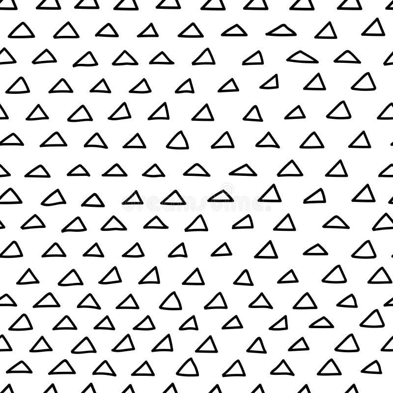Sömlös modell för klottertrianglar stock illustrationer