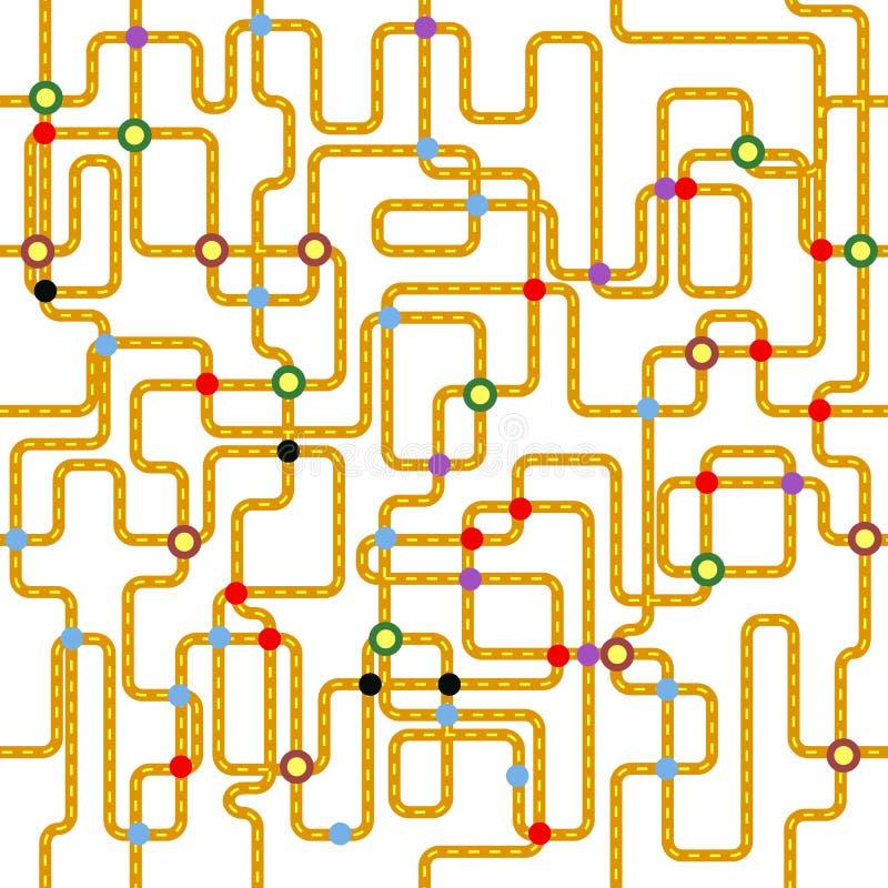 Sömlös modell för kollektivtrafik, stock illustrationer