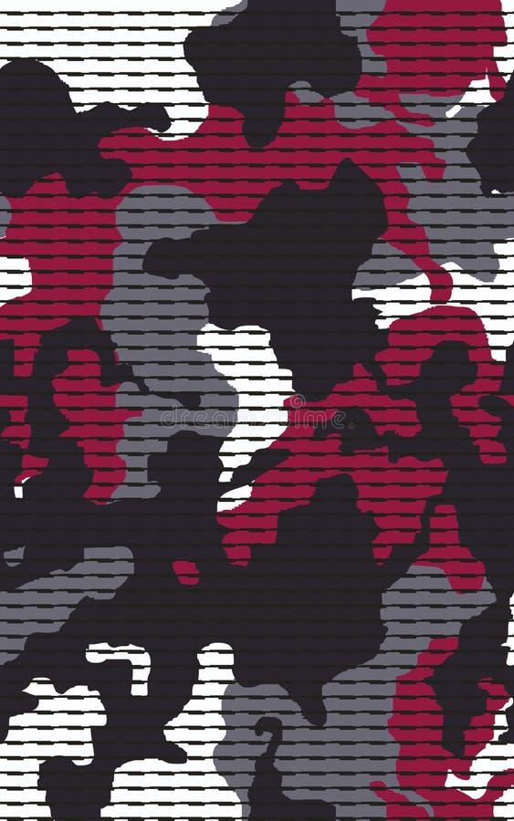 S?ml?s modell f?r linj?r kamouflage Abstrakt modern geometrisk digital texturbakgrund vektor illustrationer