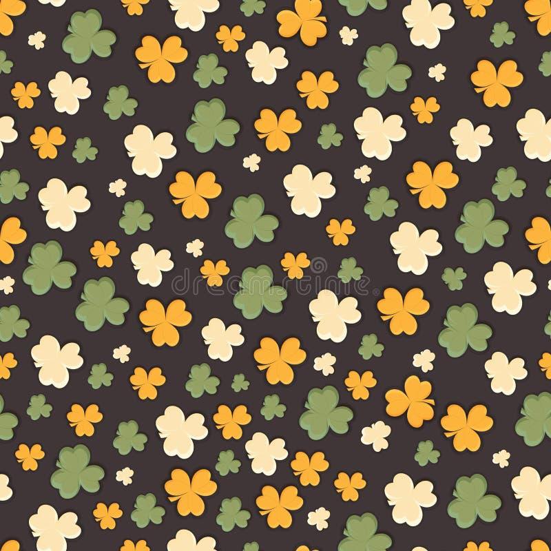 Sömlös modell för lycklig Sts Patrick dagberöm vektor illustrationer
