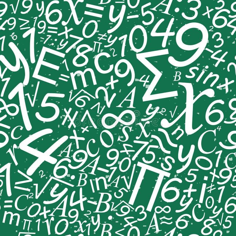 Sömlös modell för matematik, skolaskrivbordbakgrund royaltyfri illustrationer