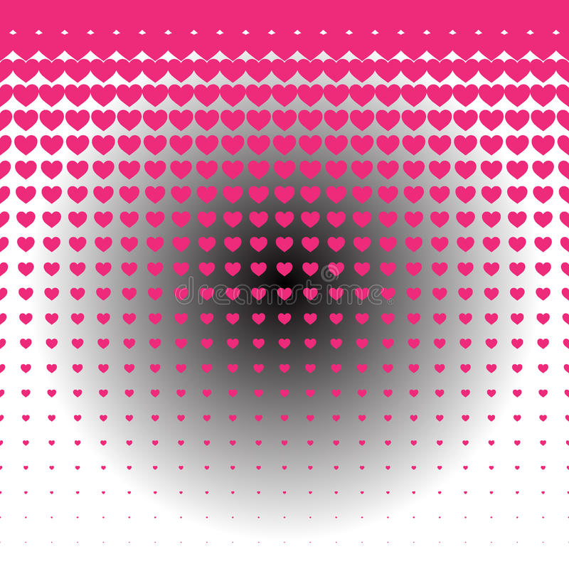 Sömlös modell för materielhjärtabakgrund med glödillustrationen stock illustrationer
