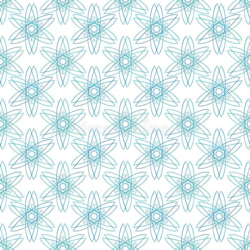 Sömlös modell för minsta sakral geometri Design för vektorrengöringsdukbakgrund vektor illustrationer