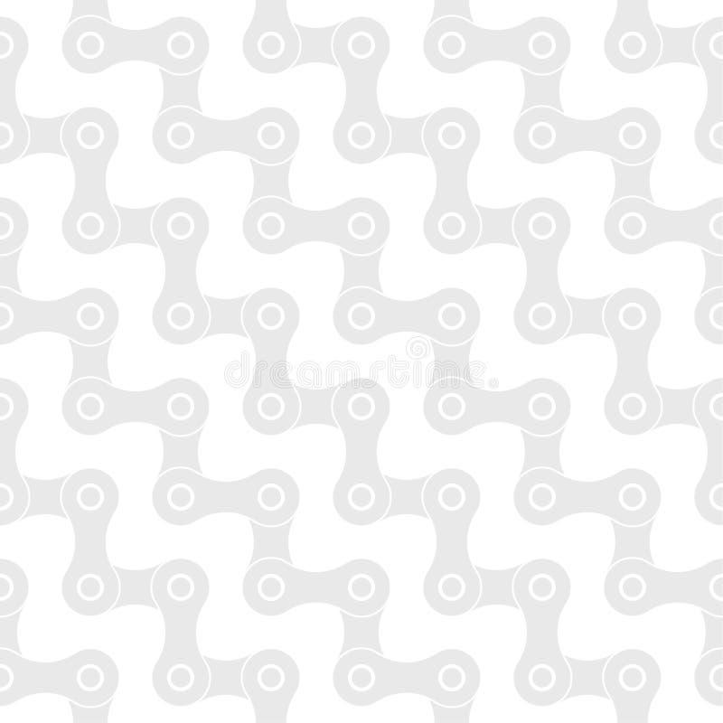 Sömlös modell för monokrom cykelkedjevektor stock illustrationer
