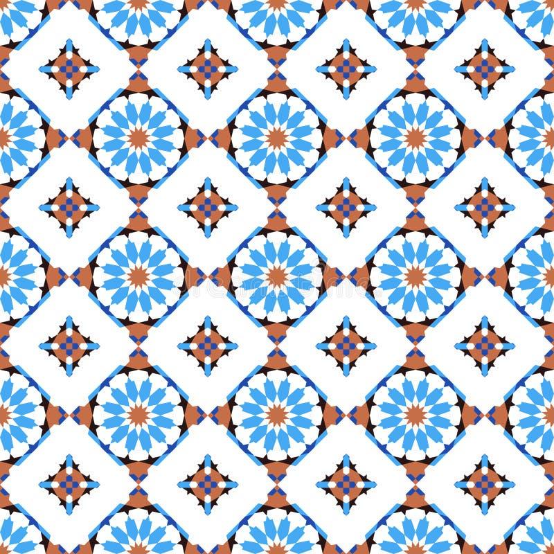 Sömlös modell för Morrocan mosaik stock illustrationer