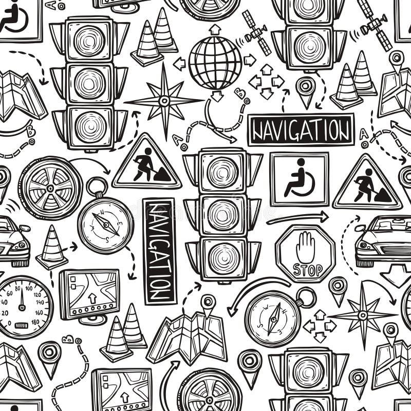 Sömlös modell för navigering stock illustrationer