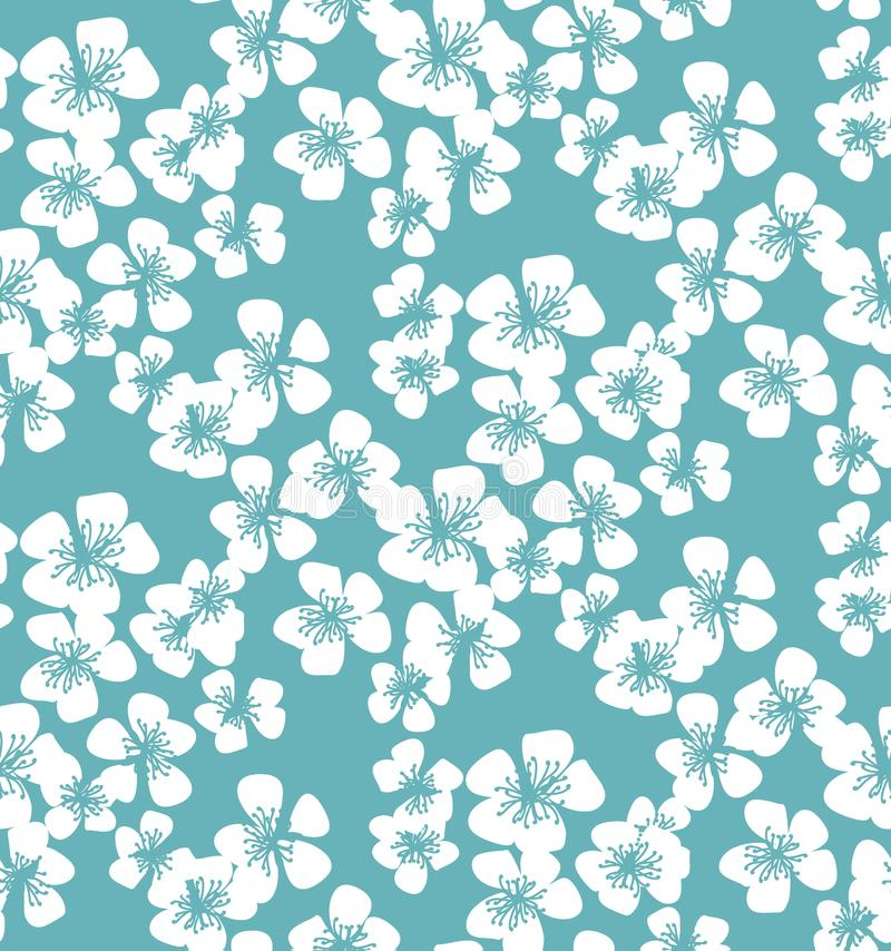 Sömlös modell för ny enkel minsta blom- vektor Vårblos royaltyfri illustrationer