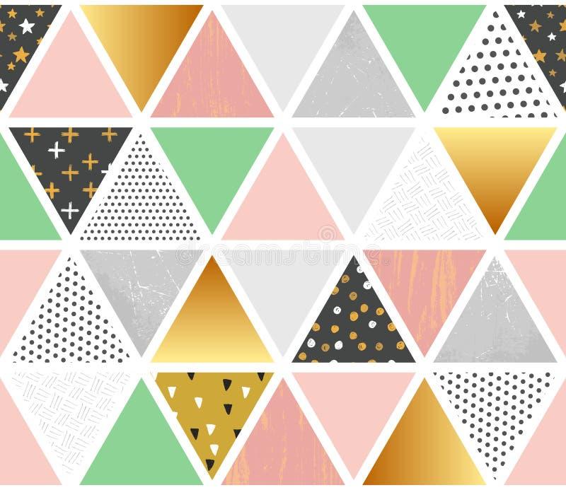 Sömlös modell för patchworkvektor stock illustrationer