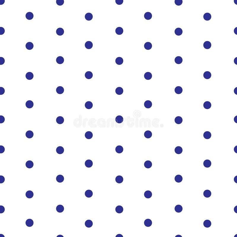 Sömlös modell för prick vektor illustrationer