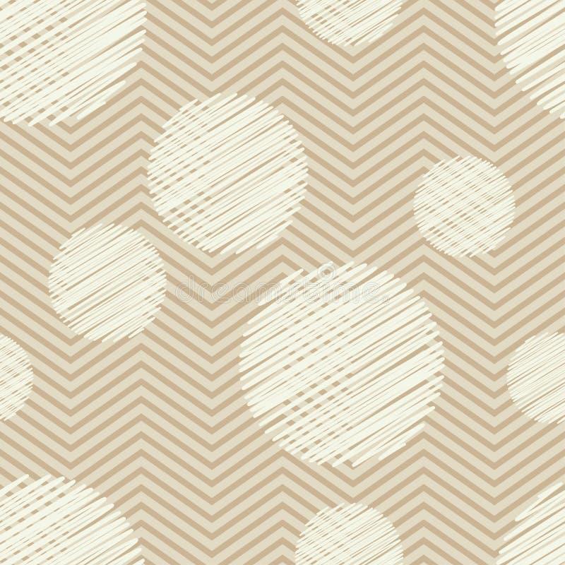 Sömlös modell för prick geometrisk bakgrund De färgrika bollarna Klottra textur vektor illustrationer