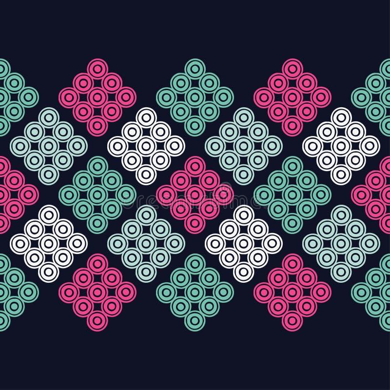 Sömlös modell för prick Kläcka för hand borsten geometrisk bakgrund Klottra textur stock illustrationer